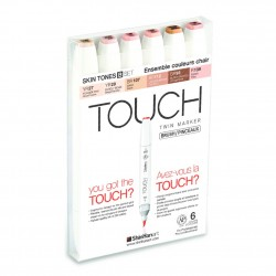 6 Set Touch Twin Brush Skin-B