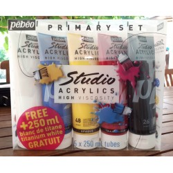 Studio Acrylic primary set 250ml
