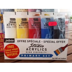 Studio Acrylic primary set 5x100ml